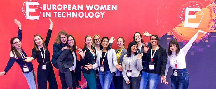 Travel scholarship holders Euopean Women in Tech 2019