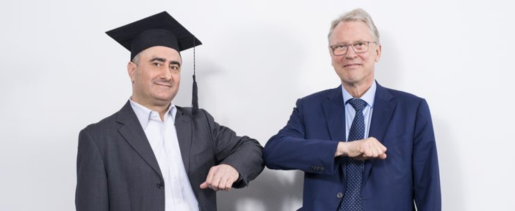 Nuhad Shaabani mit Prof. Dr. Christoph Meinel