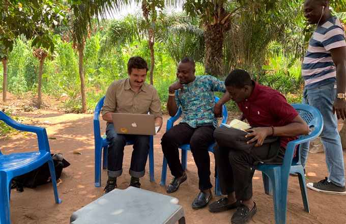 [Translate to Englisch:] Field research in Ghana