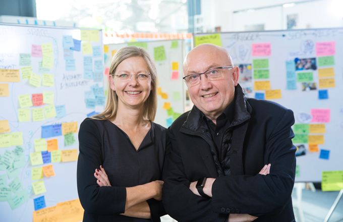 Claudia Nicolai and Uli Weinberg lead Design Thinking MOOC