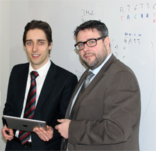 Researchers from Berlin and Brandenburg (f.l.t.r: Dr. Matthieu-P. Schapranow and Dr. Christian Regenbrecht)