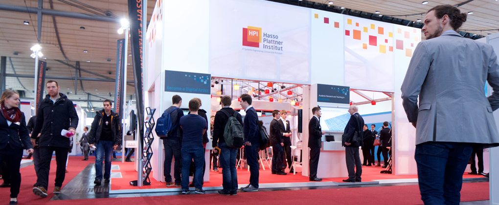 Hasso Plattner Institute's Pavilion at CeBIT 2015 (Hall 9, Booth D44).